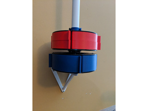 Vertical PVC Pipe Wall Mount for Used Filament Spools Converted to Drawers