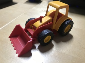 Front bucket for toy tractor
