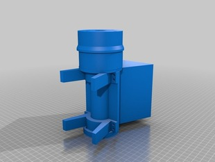 Feed Section 3d Printed for Fillament Extruder