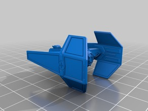 tie fighter  aggressor x-wing size