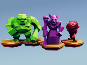 Low Poly Fantasy Tabletop - Horde Advanced Units
