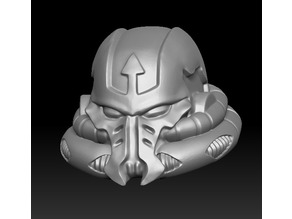 Alternate evil space warrior head
