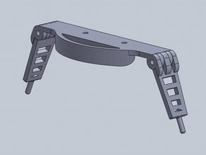 Custom Folding Landing Gear for the Hovership MHQ2 Quadcopter Frame