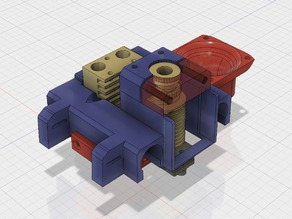 Triple bowden extruder X-Carriage (with Chimera) for Mendel Max 1.5