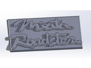 Mazda Miata roadster sign