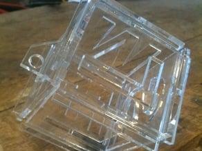 Cuboid Christmas bauble