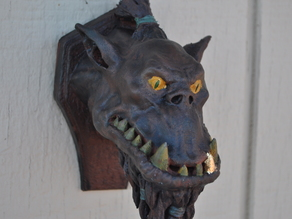 Orc Bust wall hanger (fixed)