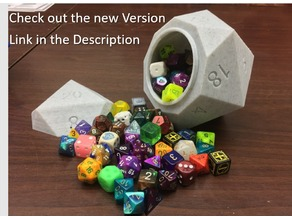 Screw Top D20 Dice Box