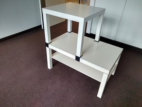 Extension for No Hardware - IKEA Lack Side Table Extender/Stacker