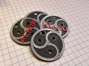 Customizable BDSM Emblem Collar Tag