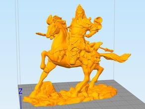 Guangong in horse
