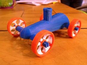 Rocket Car Snap-on Wheels - Dualstrusion