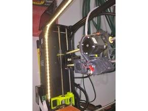 Diffuser for LED light strip in Lulzbot 5mm channel slot