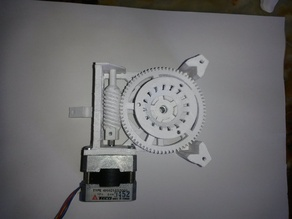 Star tracker stepper motor  worm-gear