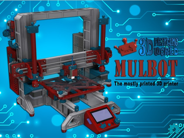 Mulbot - The Mostly Printed 3D Printer by 3DPRINTINGWORLD