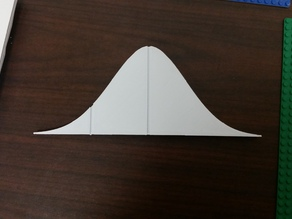 Standard Normal Distribution with One Halfway Out Marker