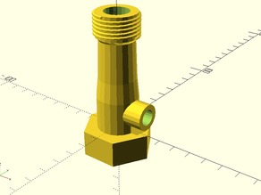 Garden hose venturi pump (without fins) with new simplified versions.