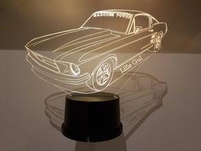 3D LED Lamp Holder Wall Mount