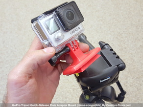 GoPro Tripod Quick-Release Plate Adapter Mount (Hama-compatible)