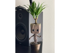 Baby Groot Planter (Spit Limbs)