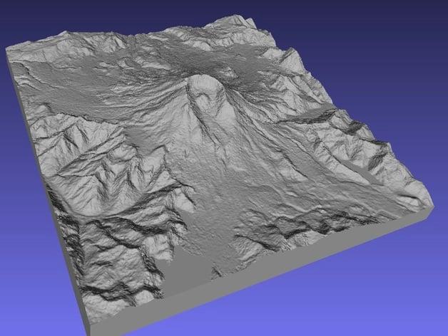 Mount Saint Helens (1 arc-second)