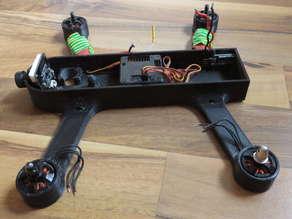 250 quadcopter frame - one piece (OpenSCAD)