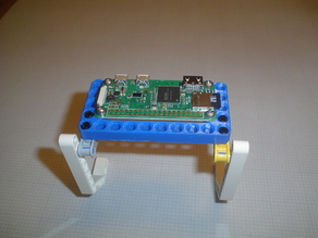 Remix of Lego Mount for Raspberry Pi Zero with metric and inch size screws