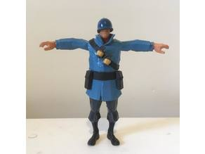 T-Posing Soldier from TF2- 3d printable!