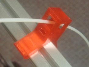 Clip-on filament guide for Kossel Clear