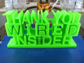 3D text Thank You for Wired Insider