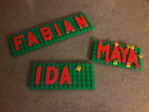 Lego letter plates