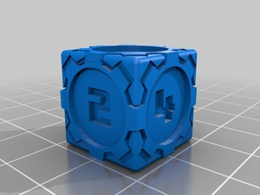 D6 Futuristic Square Gears Dice - Numbers