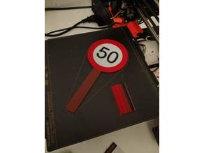 50 - Speed Limit Birthday Sign (Fifty)