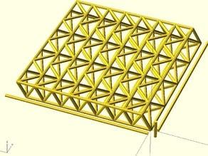 Parametric Space Truss Platform
