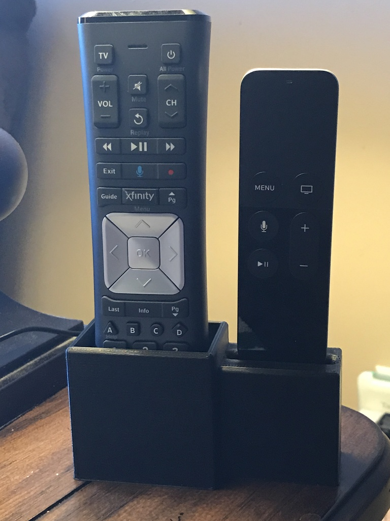 Xfinity Remote Caddy with Apple TV Remote Dock by 3DExtruded