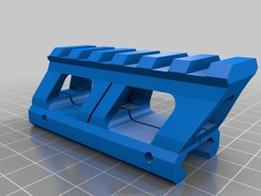 Picatinny rail riser 20 mm