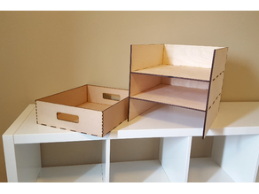 Ikea Kallax Shelf with 3 Storage Bins
