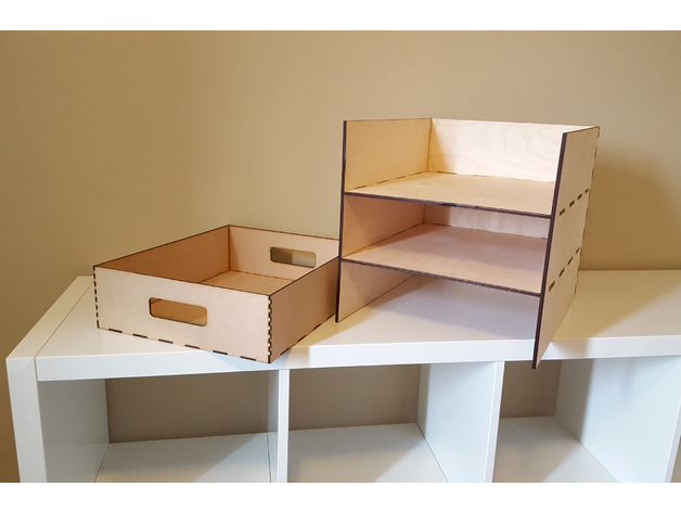 Ikea Kallax Shelf With 3 Storage Bins By Carlotta4th Thingiverse