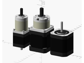 OpenSCAD HD Stepper Motors and Gearbox mockups