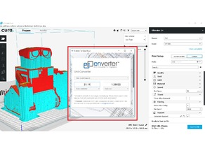 Enverter for Cura - Free Engineering Unit converter plugin for Cura