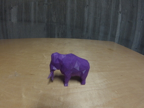 Low-Poly Woolly Mammoth