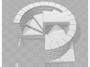OpenForge 2.0 Cut Stone Spiral Staircase 4x4 internal up & down