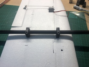 Mini Talon VTOL Wing Frame Mounts for 14mm Tube Outriggers