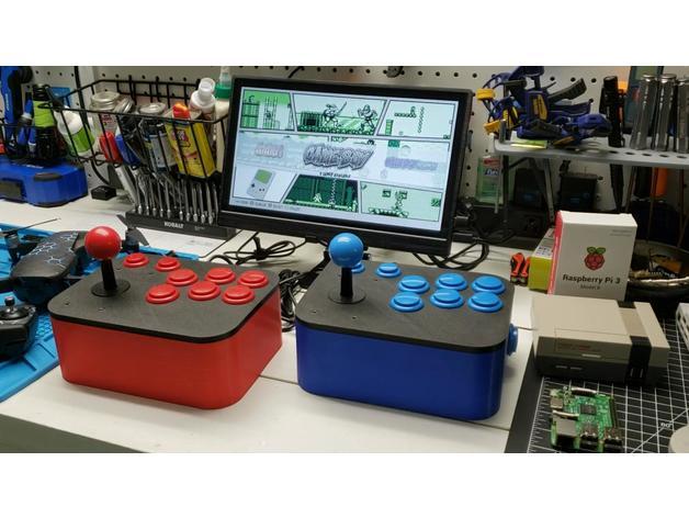 Retropie Arcade Joystick Controller (30mm & 24mm buttons) by