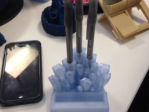 Crystal pen holder and iPhone stand