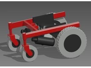 Power Wheelchair Robot Encoder Mount