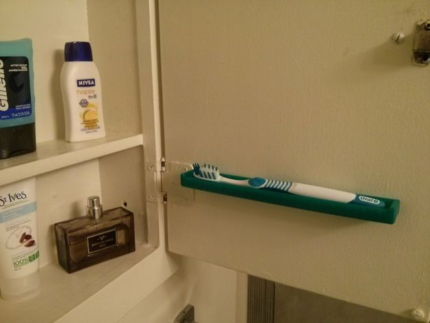 Toothbrush Holder Space Saver By Macdaddy Thingiverse