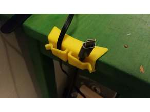 Table Edge Wire Routing Clip