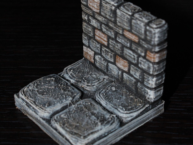 Picture Tiles For Walls >> OpenForge Stone Dungeon Walls by devonjones - Thingiverse