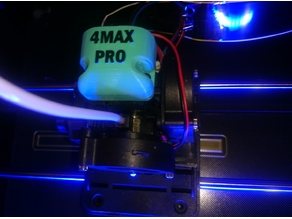 Electronic cap hotend + fan duct 4MAX PRO